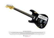 Kurt Cobain's Vandalism Stratocaster ART POSTER A3 size
