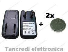 Caricabatteria lir2032 lir2025 con 2 batterie lir 2032 coin battery charger