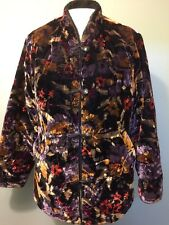 Vtg 60s 70s Ladies Russ Velvet Reversible Fleece Coat Womens L Ski Jacket Winter