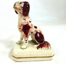 ANTIQUE VICTORIAN STAFFORDSHIRE DOG SMALL MINIATURE SIZE 9cm 3 1/2""
