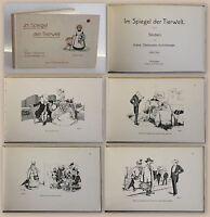 Käthe Olshausen-Schönberger Im Spiegel der Tierwelt 3.Bd um 1915 Humor Satire xz