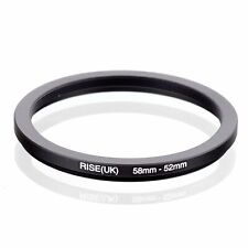 58-52 58mm to 52mm 58-52mm Matel Step-down Stepping Down Ring Filter Adapter