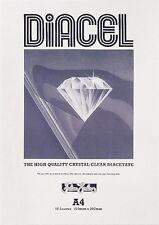 Diacel Crystal Clear diacetate Pellicola Pad-A4