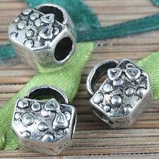 5pcs tibetan silver color handbag shaped spacer beads charms EF0253