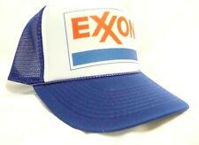 Exxon Gas Trucker Hat Mesh Hat Snap Back Hat blue