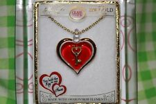 """Glass Baron Heart With Key Necklace ( 18 """" Chain )"""