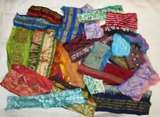 VERY RARE LOT Antique Vintage Sari TRIM LACE EDGING RIBBON 100 GRAMS CRAFT DOLL