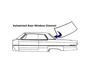 1968 1969 Plymouth Barracuda 2 Door Fastback Rear Window Seal