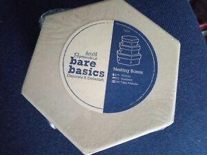 Set of 3 x Papermania Bare Basics Nesting Boxes Hexagonal Shape Craft