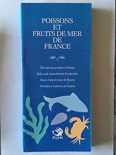 POISSONS FRUITS DE MER DE FRANCE FIOM ILLUSTRE ANGLAIS ALLEMAND ITALIEN ESPAGNOL