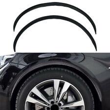 2pcs Wheel Eyebrow Trim Decoration Strip Soft Rubber Black Universal For Cars