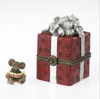 Boyds Bears Christmas 1E 20th Anniv Winston's Gift Box w/Joy McNibble ~ 4034165