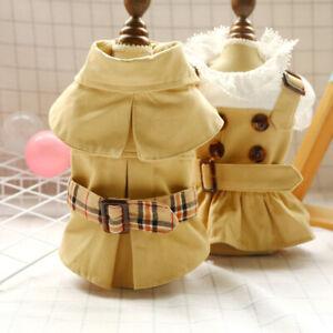 British Style Handsome Pet Coat Dress Dog Teddy Yorkshire Cat Clothes Dog Dress
