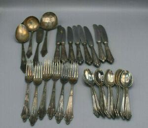 Antikes WMF Patent Konvolut Silberbesteck im Fächerdesign - altes Besteck Silber