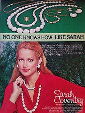 1978 Vintage Sarah Coventry White Jewelry Original Color Ad