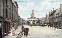 POSTCARD   SCOTLAND  ELGIN    High  Street     Circa  1905