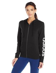 ADIDAS WOMEN'S TRAINING ESSENTIALS LINEAR HOODIE- NWT- FREE SHIPPING