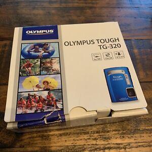Olympus Tough TG-320 14 MP Under Water Digital Camera - Blue, Box & Accessories