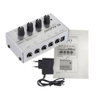 HA400 Ultra-compact 4 Channels Mini Audio Stereo Headphone Amplifier Kn