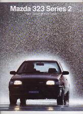 1987 MAZDA 323 Australian Prestige 16 Page Brochure & Spec Sheet SS TURBO & 4WD