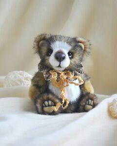 Marta.ArtsToy handmade artist teddy bear Mikey
