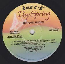 """GORDON JENSEN {80s CCM Gospel} GALLERY 7"""" 33 1/3 Extended Play ♫hear VG+ promo"""