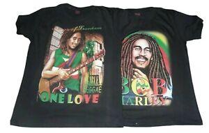 Bob Marley Rastafari Jamaican T-Shirts M-XXL