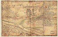 MAP ANTIQUE 1776 MILITARY WIEDERHOLT BATTLE TRENTON REPLICA POSTER PRINT PAM1654