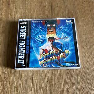 Street Fighter II' 2 Champion Edition PC Engine NEC HuCARD Japan JPN - Complete