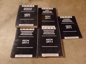 2005 Dodge Neon SRT-4 Service Manuals Manual COMPLETE SET OEM