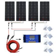1100W Daily Outputr System: 4x100W Solar Panel +Accessories for 24V Home RV Boat