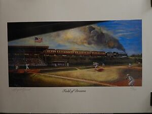 "Field Of Dreams 1990 Baseball 24""x18"" Lithograph Signed By Angelo Marino LE 700"