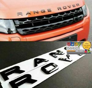 Logo Scritta RANGE ROVER Nero Lucido evoque sport vogue velar land rover stemma