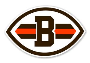 Cleveland Browns Football Ball Logo Die Cut Vinyl Decal Car Window Truck Laptop