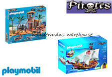 Playmobil Pirate Set - 5678 Red Serpent Ship/4899 Pirates Cove - New