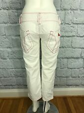 Miss Sixty Italy Cropped White Denim Jeans Size 29