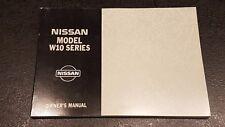 1996 - NISSAN MODEL W10 SERIES OWNERS MANUAL -