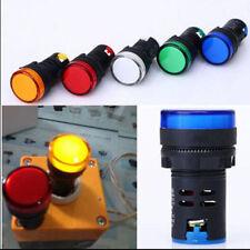 Replace 12~220V 22mm Panel Mount LED Power Indicator Signal Warning Lights