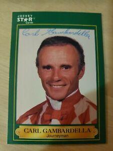 Carl Gambardella, Autographed 1991 Jockey Star Card #92 (VG) Only 1 on Ebay!!