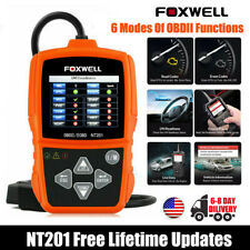 Engine Light Check Foxwell NT201 OBD II Car Code Reader Scanner Diagnostic Tool