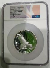 2019P 10oz AUSTRALIA$10 SILVER WEDGE TAILED EAGLE HR NGC PF70UC FR MERCANTI RARE
