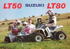Suzuki LT50 LT80 UK sales brochure kids quad bikes