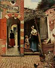 A4 Photo Hooch Peter de 1629 1684 Court of a Dutch house History of Painting 191