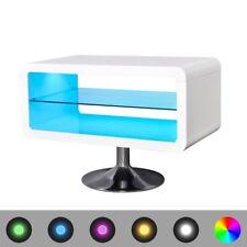 vidaXL TV-Schrank Fernsehtisch Hochglanz TV-Lowboard mit Beleuchtung LED 80 cm