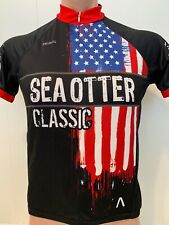 Sea Otter Classic Cycling Jersey USA Flag Bicycle MTB Cycle Bike Men's Small S