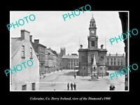 OLD LARGE HISTORIC PHOTO OF COLERAINE DERRY IRELAND, VIEW OF THE DIAMOND c1900 2