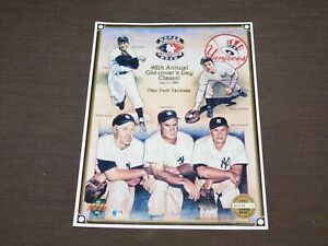 JULY 11, 1992 46th OLD TIMERS DAY NY YANKEES BASEBALL UPPER DECK NUMBERED SHEET