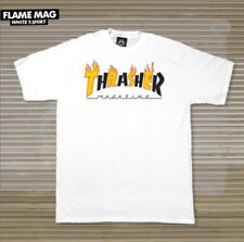 Thrasher Magazine Flame Mag Logo T Shirt White Men's Size Medium
