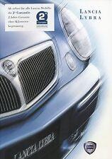 Lancia Lybra Auto Prospekt III/00 brochure Autoprospekt Pkw Europa Italien 2000
