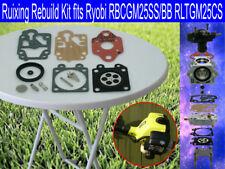Ruixing Carby Rebuild Kit fits Ryobi RBCGM25SS RBCGM25BB RLTGM25CS GM254SL more